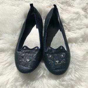 Girls blue cat shoes